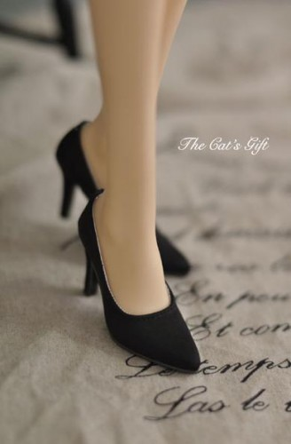 SD16,SDGr,DDドール靴 ハイヒール 黒 人形用 シューズ